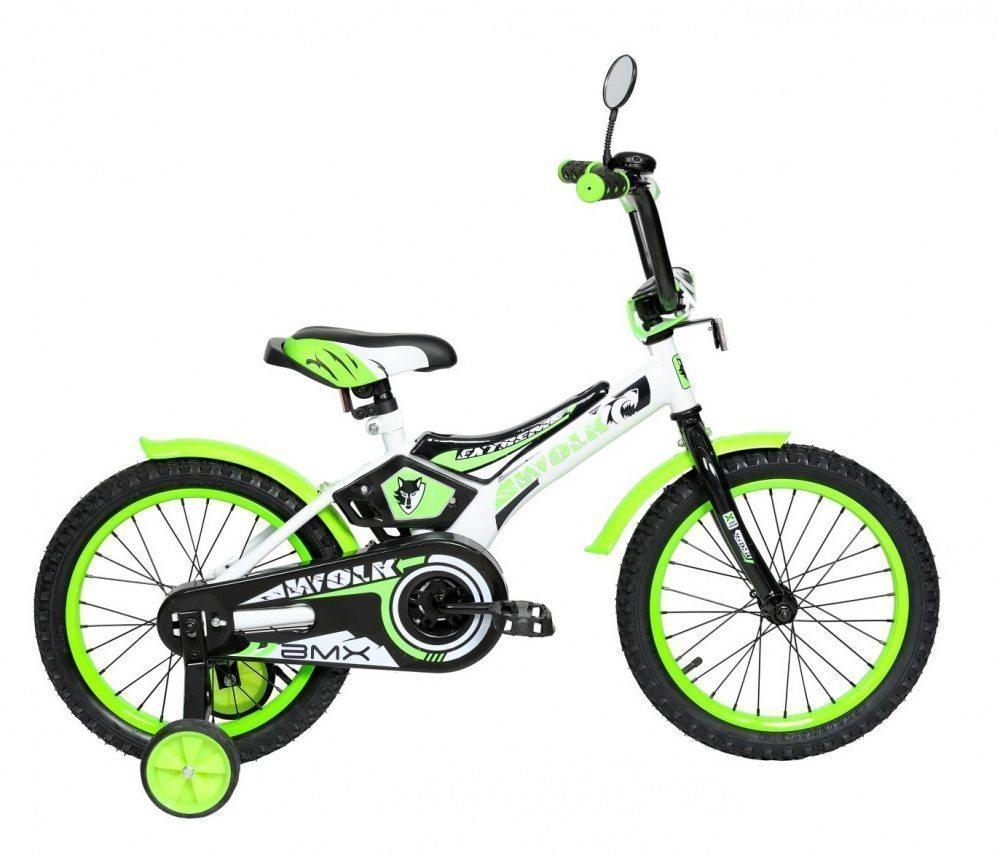 """Детский велосипед 16"""" Wolk передний тормоз, серые покрышки"""