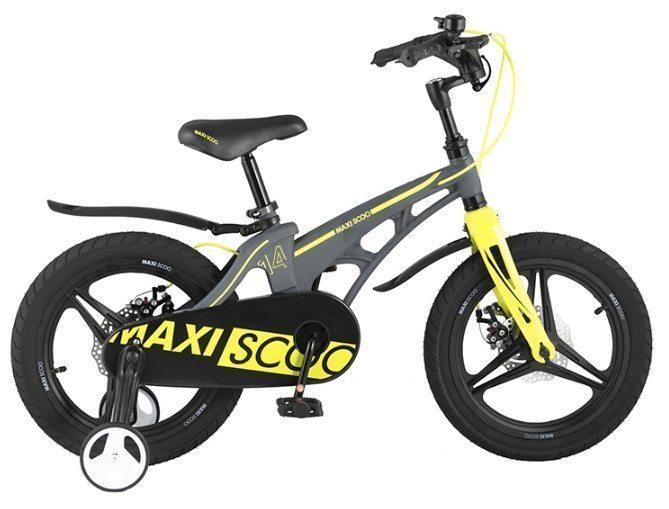 """Детский 2- колесный велосипед Maxiscoo Cosmic Делюкс плюс, 14"""" (2021)"""