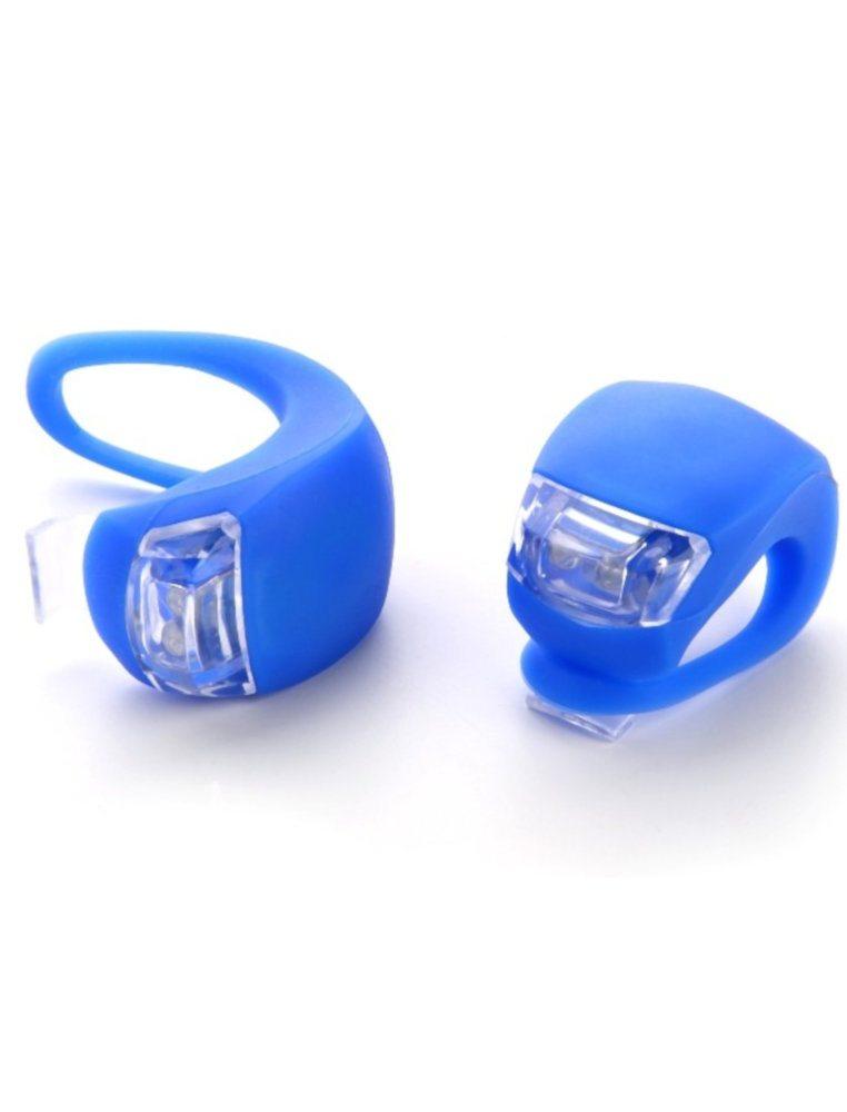 Фара XC-108, Пластик/силикон, комплект, 2 светодиода, 3 режима работы, цвет синий