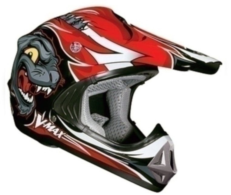 Шлем детский (кроссовый) NBX-I JR (Viper) Wildcat красный глянцевый S,M,L