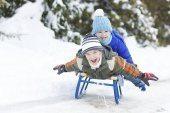 Лучшее  развлечение для детей - это санки!