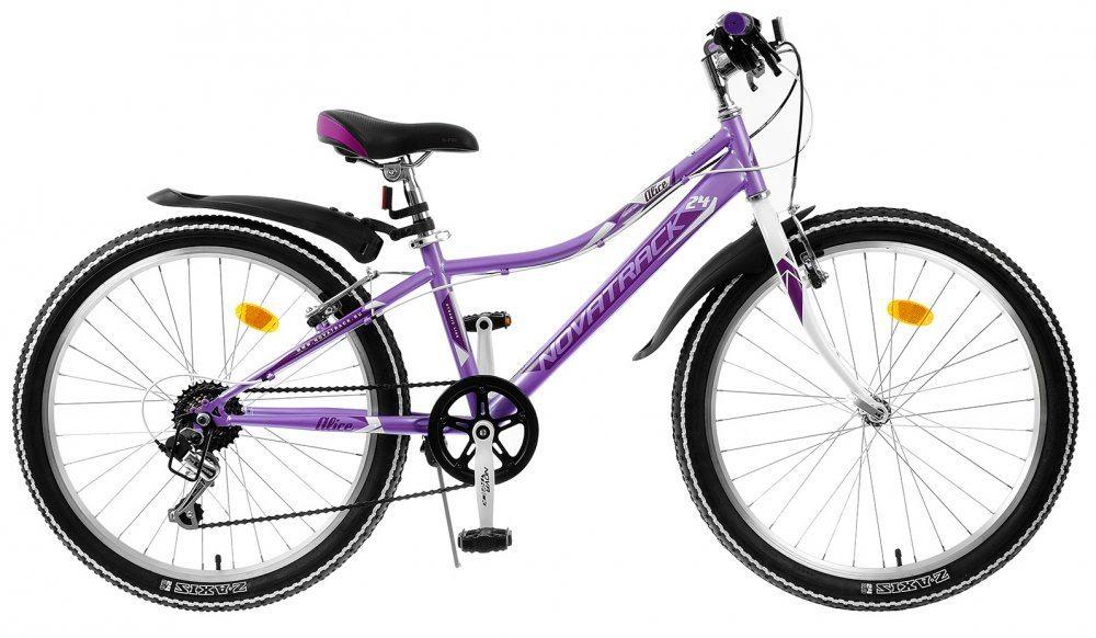 """Горный подростковый велосипед NOVATRACK 24"""" ALICE ст. 6ск. V-brake 2020"""